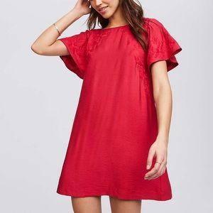 NWT Loft Embroidered Dress